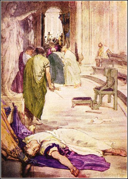 1ere rencontre entre cleopatre et cesar