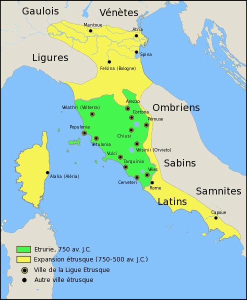 Etrurie ou le royaume Etrusque
